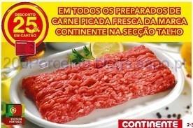 25% de desconto em carne picada