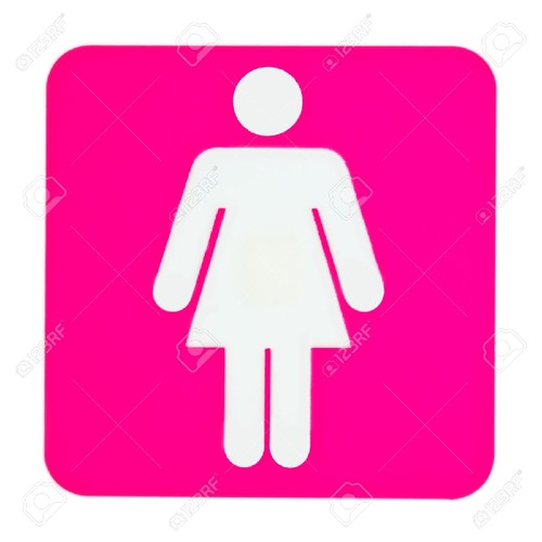 12162995-Pink-toilet-sign-for-women-Stock-Photo-wc