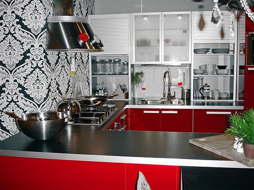 30 Ideias Com Papel De Parede Na Cozinha Decora O E Ideias