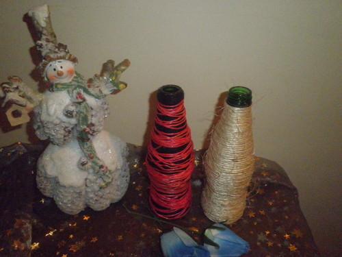 Garrafas recicladas.