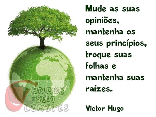 Mude de opinião, mantenha os seus principios, troque as suas folhas e mantenha as suas raizes