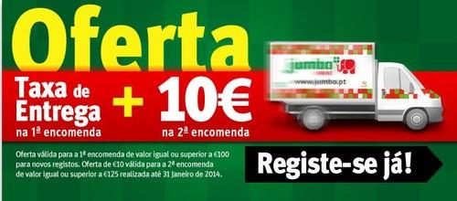 Oferta de 10€ + Taxa Entrega | JUMBO |