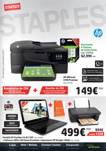 Novo Folheto Staples Especial HP