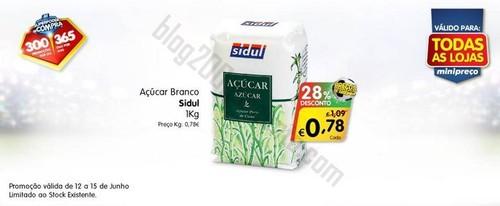 Antevisão Promoção MINIPREÇO de 12 a 15 junho - Açúcar