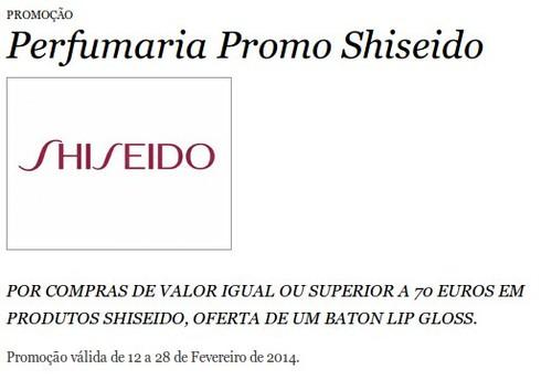 Promoções | EL CORTE INGLÉS | Shiseido