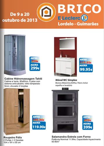 Novo Folheto Brico E-Leclerc Lordelo, de 9 a 20 Outubro
