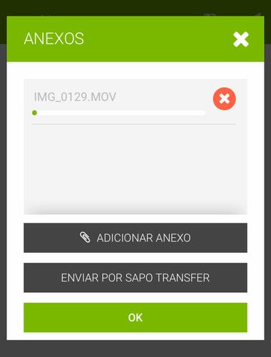 Transfer no Mail mobile - envio