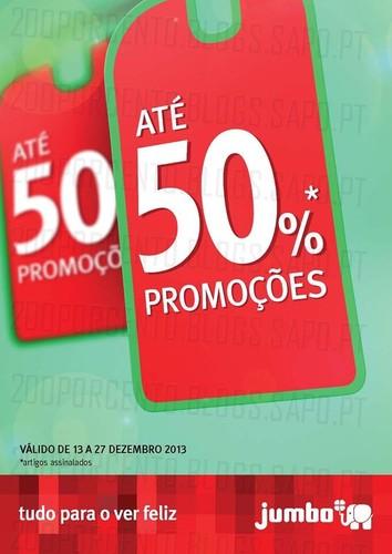 Até 50% de desconto | JUMBO | têxtil de 13 a 27 dezembro