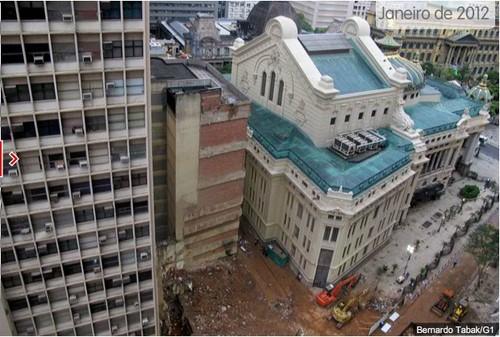 Desabamento de prédios na Cinelândia no Rio