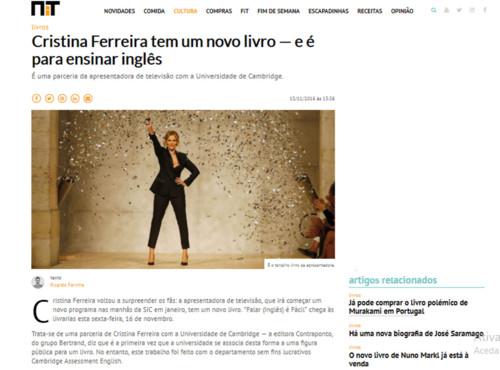 Sei Que Está Doente E Também Sei Que Viver Um Momento: O Novo Livro De Cristina Ferreira: Do You Speak English