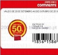 Cupão 50% trolley Continente