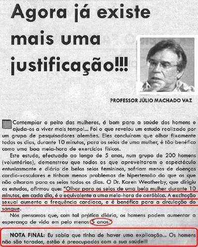 Julio Machado Vaz e a saúde dos homens