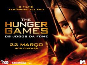Cartaz anunciando a estreia do filme 'Hunger Games' (Jogos da Fome)