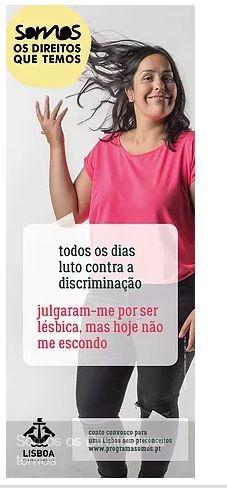 Discriminação Cátia lésbica Campanha Somos CM