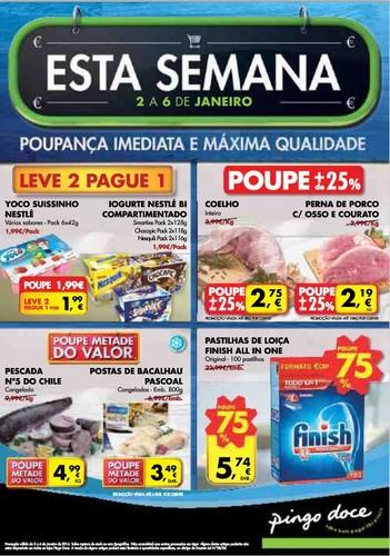 Novo Folheto | PINGO DOCE | já online de 2 a 6 janeiro