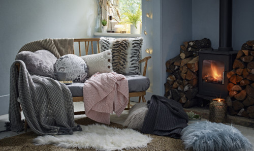 Primark Hygge Hibernate cushion, E6 $7, throw, E10
