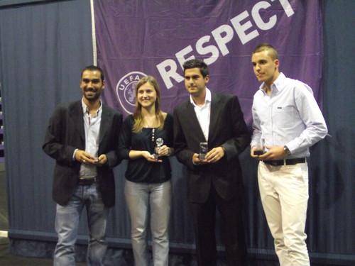 Gala da Associação de Futebol de Setúbal, os jovens árbitros que subiram.Foto:JoaquimfCandeias