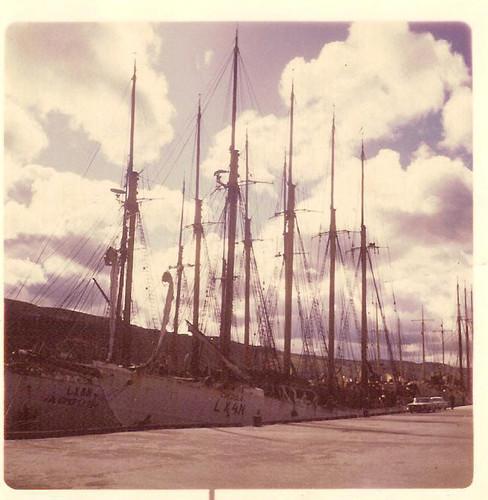 creoula e argus, no porto canadiano st.Johns