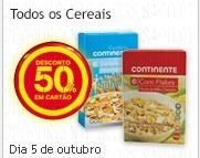50% em Todos os Cereais
