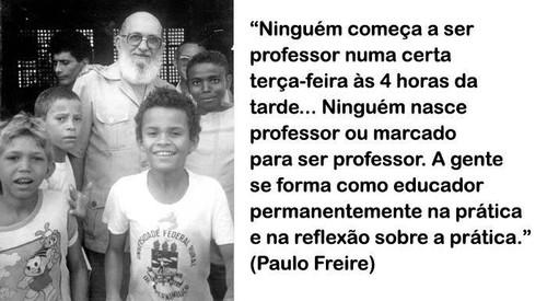 Ninguém nasce professor