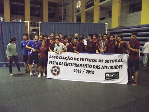 Gala da Associação de Futebol de Setúbal.Equipa de Inicidaos do Cova da Piedade.foto:JoaquimfCandeias