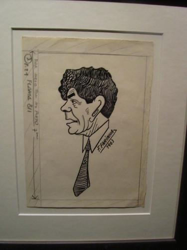 Caricatura de Fernando Farinha no Museu do Fado