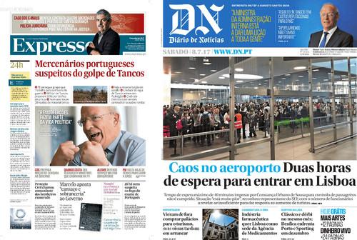 capas do dn e expresso de 08/07/2017