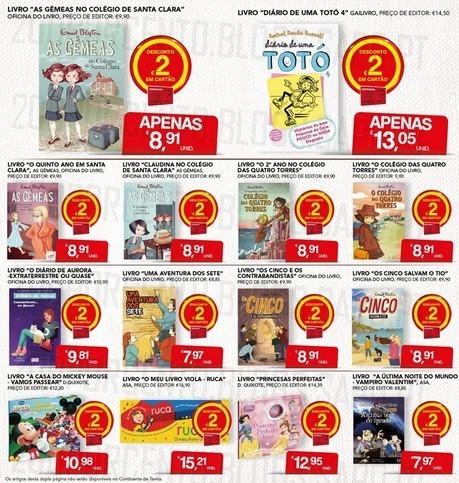 Acumulação 2€ + Cupão | CONTINENTE | Livros, apenas dia 9 dezembro