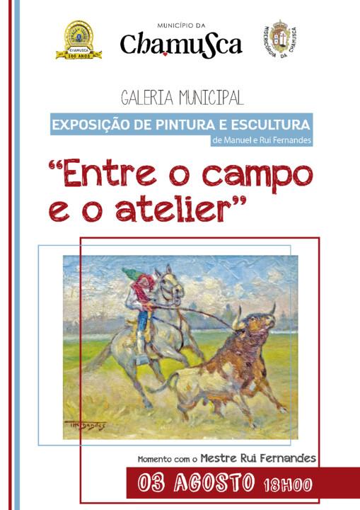 Cartaz Exposição pintura e escultura inaugura
