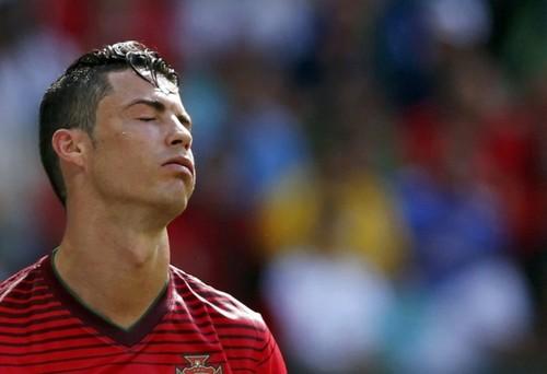 Cristiano Ronaldo no jogo contra a alemanha