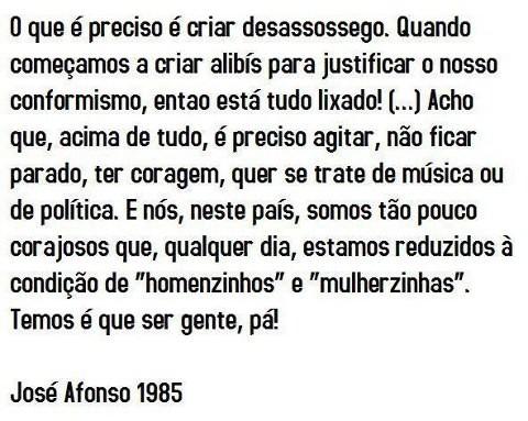José Afonso,desassossego