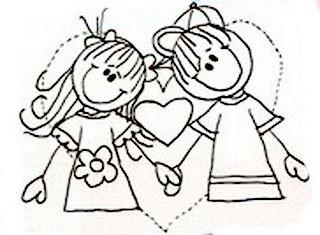 Desenhos Dia Dos Namorados Para Pintar O Mundo Das Criancas