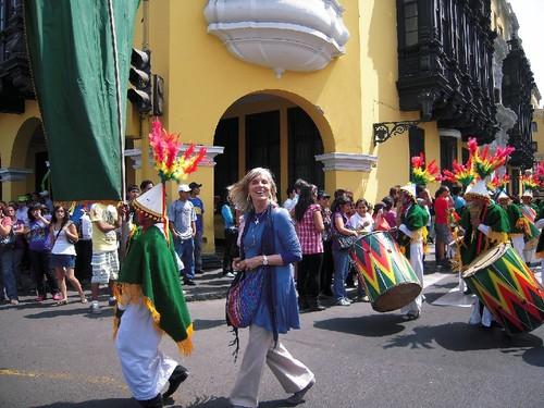 No desfile do dia 1 de Maio em Lima