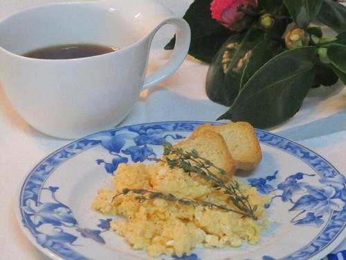 Ovos com Tomilho e Queijo Creme