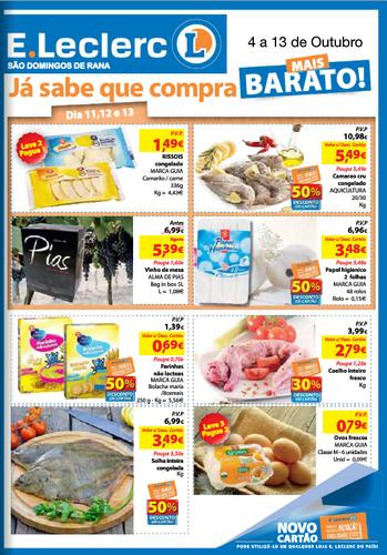 Novo Folheto E-Leclerc S. Domingos Rana, de 4 Outubro a 13 Outubro