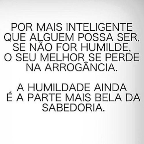 A Humildade é a parte mais bela da sabedoria