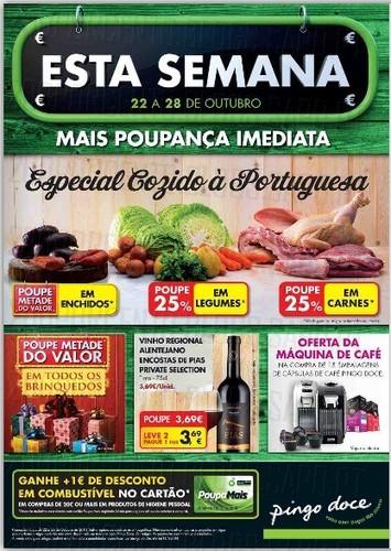 Novo Folheto Pingo Doce de 22 a 28 Outubro