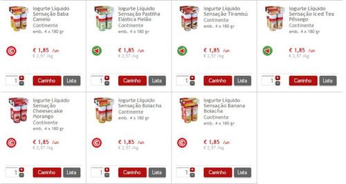iogurtes continente promoção