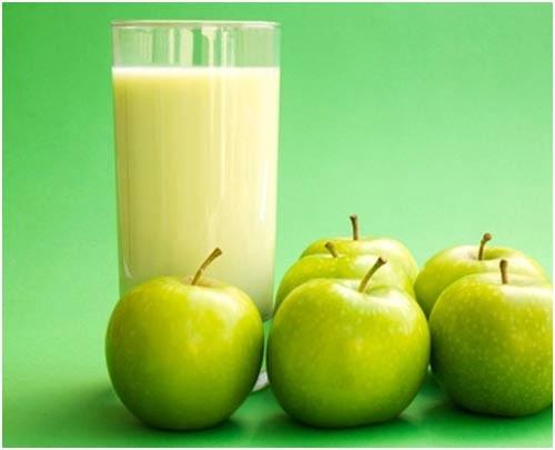 Sumo de maçã verde