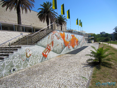 Arte Urbana by Mário Belém - Peixe laranja/Imaginário no CAE na Figueira da Foz Portugal - Muro (5) [en] Urban art by Mário Belém - Orange Fish/Imaginary in Art Center Figueira da Foz, Portugal