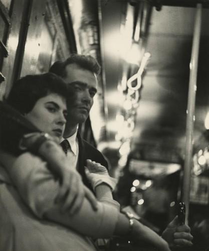 Sy Kattelson Couple in Subway, 1953.jpeg