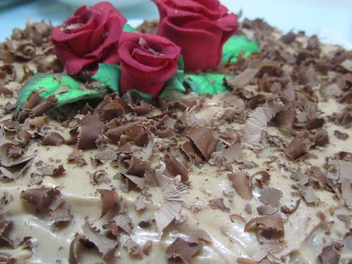 Bolo de chocolate e amêndoa