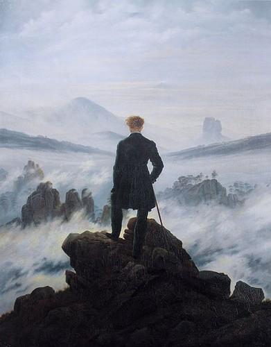 Caspar David Friedrich - Der Wanderer über dem Nebelmeer (1818)