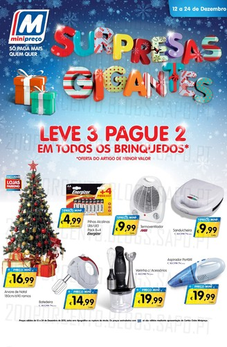 Leve 3 Pague 2 | MINI PREÇO | de 12 a 24 dezembro - Brinquedos