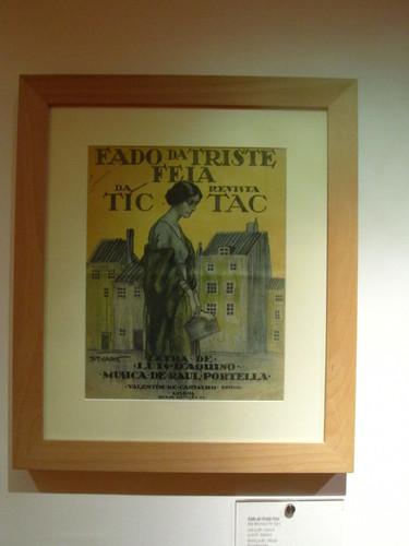 Cartaz de Revista no Museu do Fado