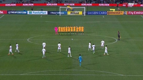 Saudi Arabia's players did not line up for the m