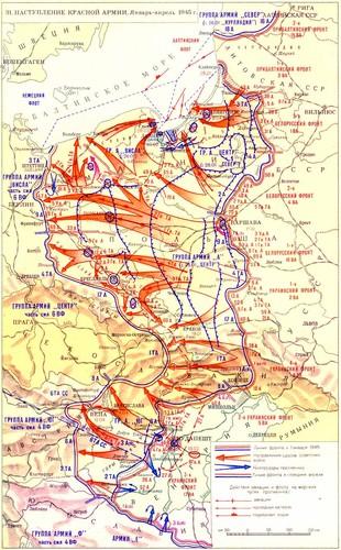 Mapa ofensiva Exérc_Verm 1-4-1945