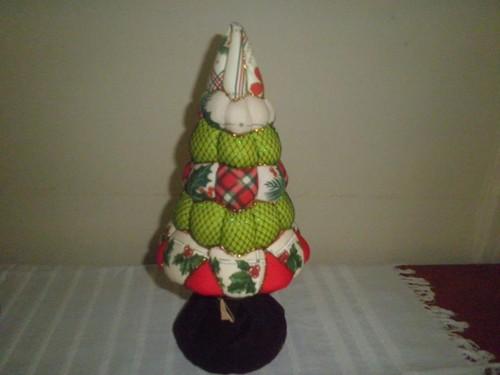 Arvore de Natal com tecido...