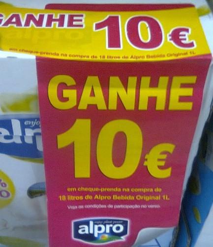 Ganhe 10€ em cheque-Prenda | CONTINENTE | Alpro
