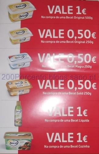 4,50€ de vales becel
